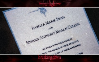 Random: Breaking Dawn: Wedding Invitation