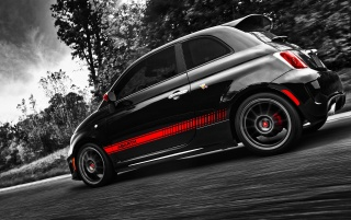 Random: Fiat 500 Abarth Side Angle