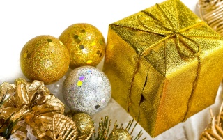 Christmas Golden Decorations wallpapers and stock photos