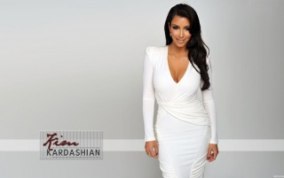 Kim Kardashian White Dress wallpapers and stock photos