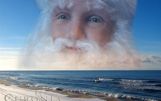 Santa Clause near the Baltic s wallpapers and stock photos