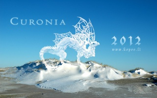 Snow dragon inthe frozen dunes wallpapers and stock photos
