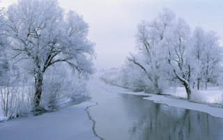 Winter River wallpapers and stock photos