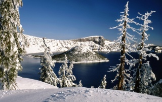 Winter Lake wallpapers and stock photos