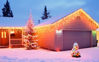 Christmas House Decorations wallpapers and stock photos