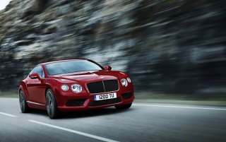 Bentley Continental GT V8 Red wallpapers and stock photos