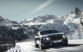 Bentley Continental GT V8 Gray Spee Tilt wallpapers and stock photos