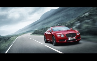 Bentley Continental GT V8 Red Speed wallpapers and stock photos