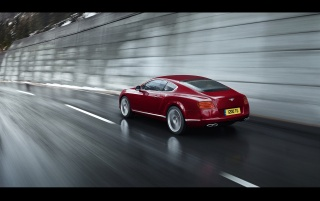 Bentley Continental GT V8 Red Rear wallpapers and stock photos