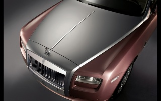 Rolls Royce Rose Quartz Ghost Bonnet wallpapers and stock photos