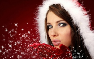 Beautiful Santa girl wallpapers and stock photos