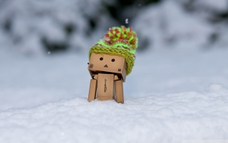 Danbo in Snow wallpapers and stock photos