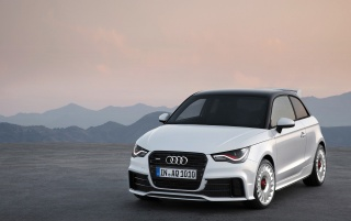 2012 Audi A1 Quattro Front Angle wallpapers and stock photos