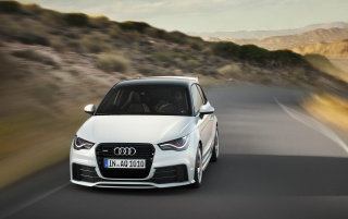 2012 Audi A1 Quattro Front Speed wallpapers and stock photos