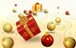 Presents and globes wallpapers and stock photos