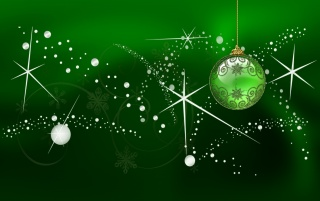 Green Christmas globe wallpapers and stock photos