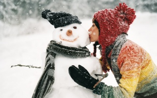 Kiss the snowman wallpapers and stock photos