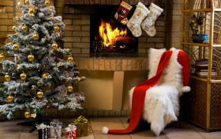 Santa Claus house wallpapers and stock photos