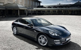 Porsche Panamera Black wallpapers and stock photos