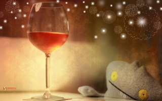 Glass of rose wine wallpapers and stock photos