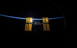 ISS Backlit wallpapers and stock photos