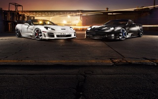 TIKT Chevrolet Corvette Duo wallpapers and stock photos