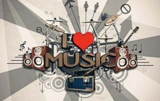 I ♥ Music wallpapers and stock photos