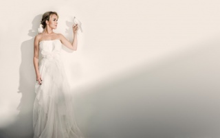 Bride with Doves wallpapers and stock photos