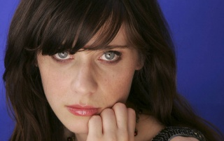 Zooey Deschanel Blue Eyes wallpapers and stock photos