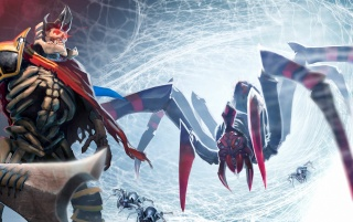 Dota 2 Negru Arachnia wallpapers and stock photos