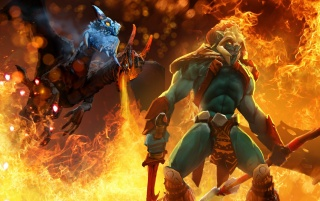 Dota 2 Jakiro wallpapers and stock photos
