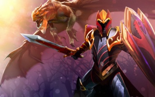 Dota 2 Knight Davion wallpapers and stock photos