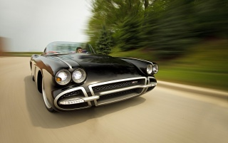 1962 Chevrolet Corvette C1 RS Front Speed wallpapers and stock photos