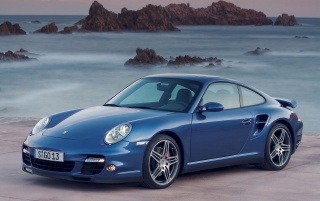 Porsche front left wallpapers and stock photos