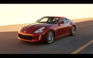 Nissan 370Z Magma Red wallpapers and stock photos
