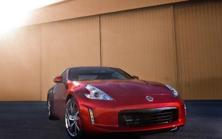 Nissan 370Z Magma Red Close-up wallpapers and stock photos