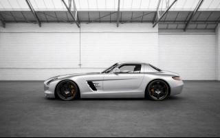 Random: Mercedes Benz SLS AMG Silver Wing Side