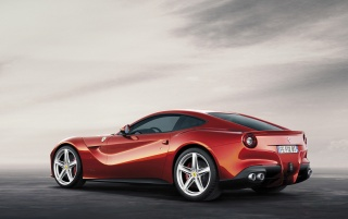 2012 Ferrari F12 Berlinetta Rear and Side wallpapers and stock photos