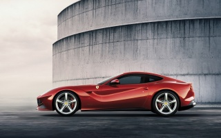 2012 Ferrari F12 Berlinetta Side wallpapers and stock photos