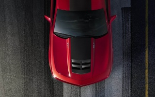Red Camaro ZL1 wallpapers and stock photos
