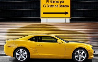 Yellow Camaro wallpapers and stock photos