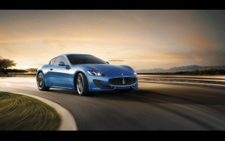 2012 Maserati GranTurismo Sport Front Angle Speed wallpapers and stock photos