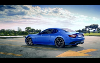 2012 Maserati GranTurismo Sport Rear and Side wallpapers and stock photos