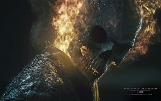 Ghost Rider Spirit of Vengeance Closeup wallpapers and stock photos