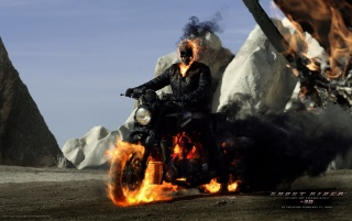 Ghost Rider Spirit of Vengeance Movie Poster wallpapers and stock photos