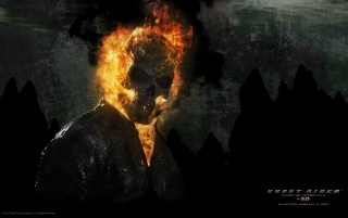 Ghost Rider Spirit of Vengeance Poster wallpapers and stock photos