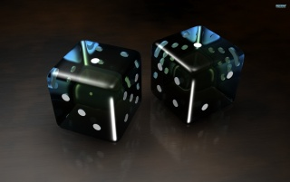 Black 3D Dice wallpapers and stock photos