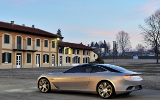 2012 Pininfarina Cambiano Concept Side Angle Tilt wallpapers and stock photos