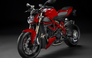Red Ducati Streetfighter 848 Front Angle wallpapers and stock photos