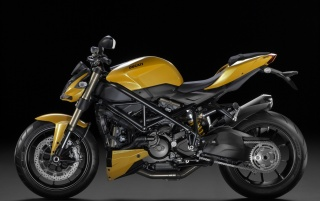 Yellow Ducati Streetfighter 848 Side wallpapers and stock photos